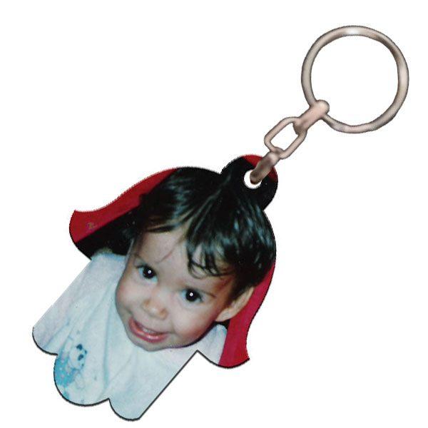 תמונה מודפסת על מחזיק מפתחות מעוצב חמסה
