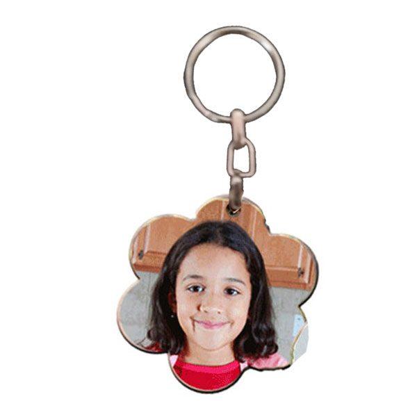 הדפסת תמונה על מחזיק מפתחות מעוצב פרח