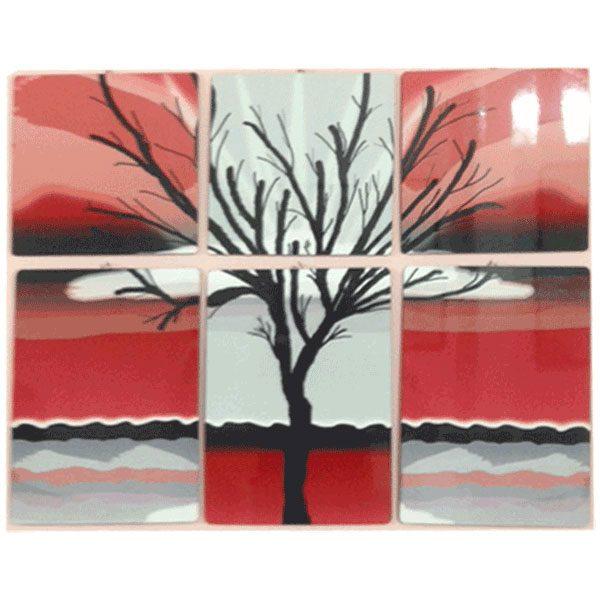 תמונה משולב מעץ - 6 חלקים