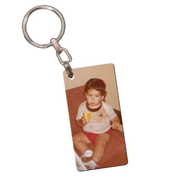 מחזיק מפתחות מלבני עם תמונה