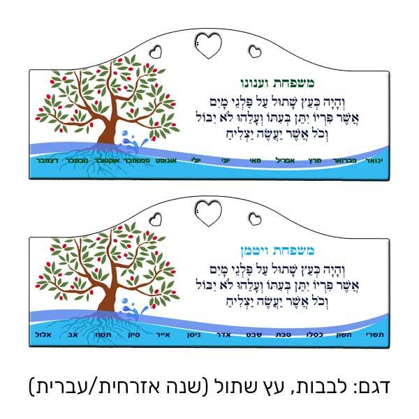 של מעץ - לוח ימי הולדת - כעץ שתול