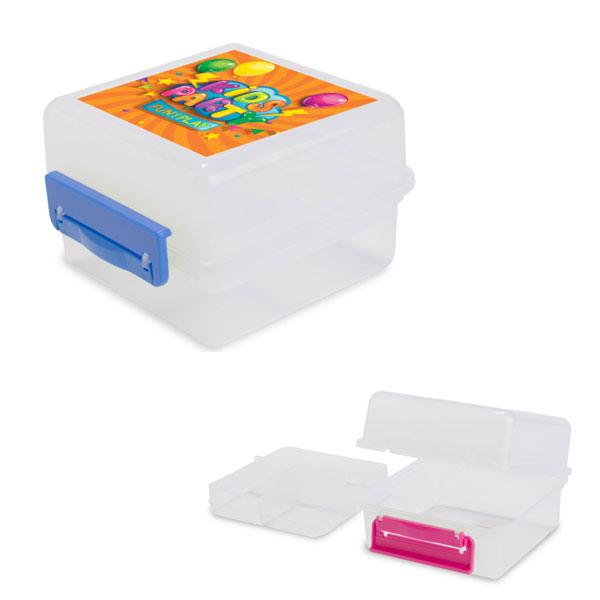 קופסת אוכל לילדים עם תמונה או שם - מתנות לגני ילדים