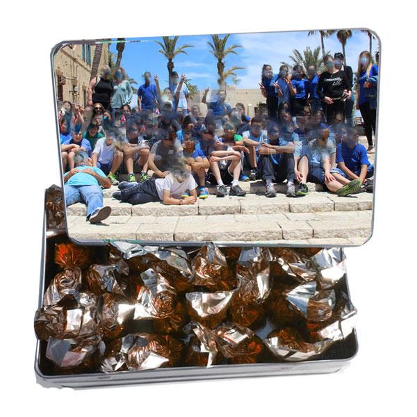 יחסי עבודה טובים עם קופסת פח מועצבת - מתנה / מזכרת לעובדים