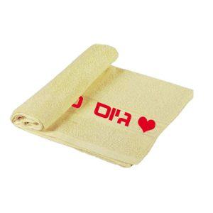 מגבת מודפסת