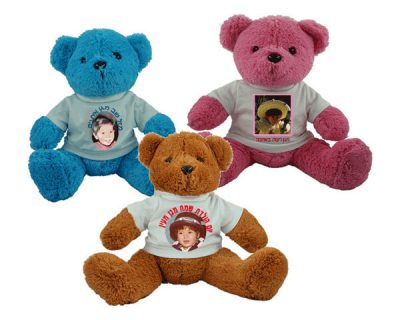 בובות דובי קטנות לבושות חולצה עם הדפסה אישית