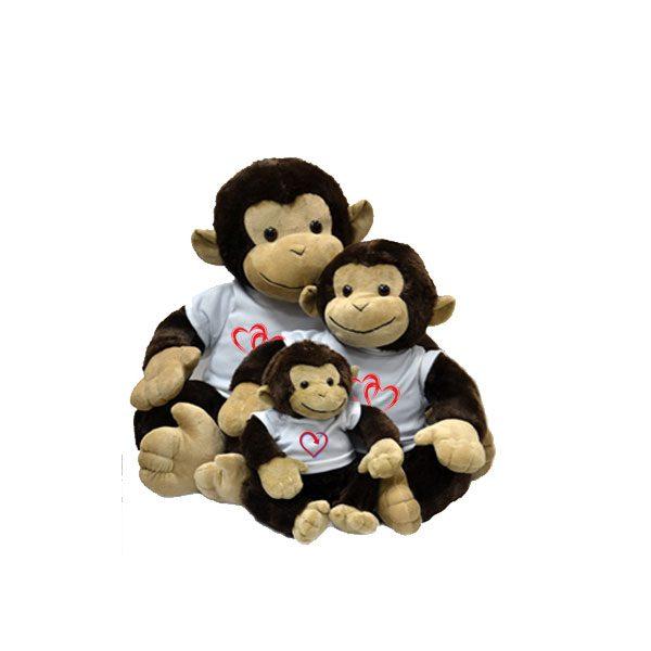 מתנה ליום האהבה / לוולנטיין דיי - בובת קוף מפרווה - מתנה לטו באב יום האהבה